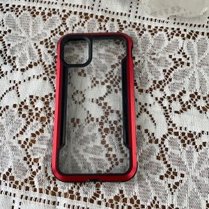 FINAL SALE! Clear defense red IPhone 11 phone case